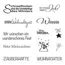 """Clear Stamp """"Weihnachten/Winter"""", Schriftzüge"""