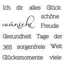 """Clear Stamp """"Wünsche"""", 96,5x91x3,2mm"""
