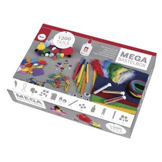 Mega-Bastelbox 1.200 Teile Kreativ Bastelbox