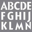 Schablone Buchstaben+Designs, 30,5x30,5cm, klassisch,...