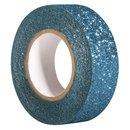 Glitter Tape, coelinblau, 15mm, Rolle 5m