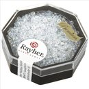 Premium-Rocailles, 2,2 mm ø,  transparent Rainbow,...