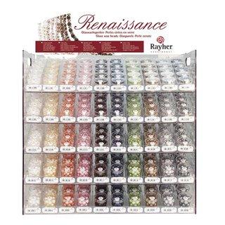 Renaissance Glaswachsperlen, halbtransparent, Farben und Größen siehe Auswahl