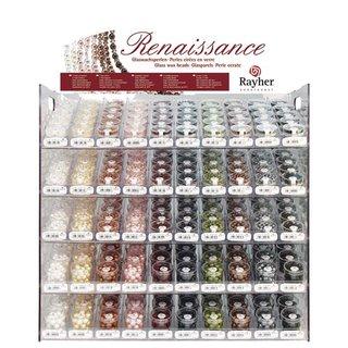 Renaissance Glaswachsperlen, matt, Farben und Größen siehe Auswahl