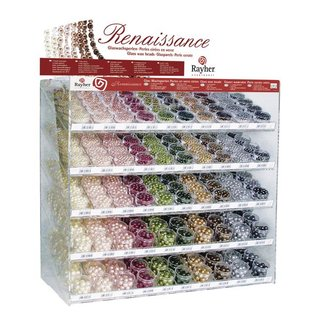 Renaissance Glaswachsperlen, in 24 Farben und 5 Größen
