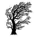 Stempel Baum im Wind, 70 x 58mm, 1 Stück