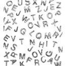 Wachsbuchstaben, 9mm, 2 Stück im Beutel