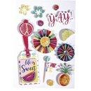 """3D Papier Sticker """"Summer Party"""", mit Effekten,..."""