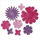 Papier-Blütenmischung, 2,5-7 cm, 5 Sorten,...
