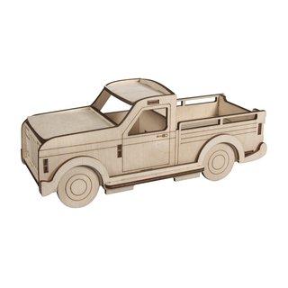 6teilig 20x11,5x0,4cm FSC100/% Beutel 1Set natur Holzmotiv Wohnwagen