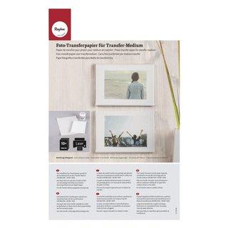 Foto-Transferpapier ohne Rubbeln, weiß, 210x297mm, Beutel 10 Bogen