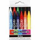 Colortime Farbkreide, Stärke: 11 mm, L 10 cm,...