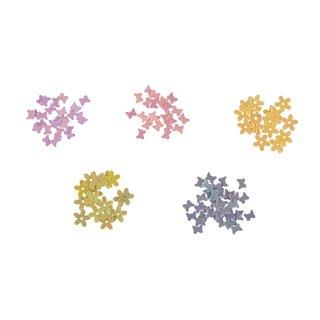 Pailletten-Sortiment 5-20mm Blüten ca.390 Stück 10g