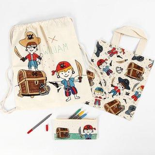 Piraten Stofftasche, Kordelzug-Beutel, Federmäppchen, siehe Auswahl