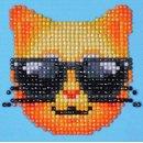 Diamond Dotz® Coole Katze, 10,2x10,2 cm, 1 Set
