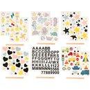 Rub-on-Sticker, Transfer-Sticker, versch. Motive, 2...