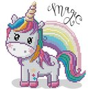 Diamond Dotz® Einhorn Magic Rainbow 31x31 cm, 1 Set