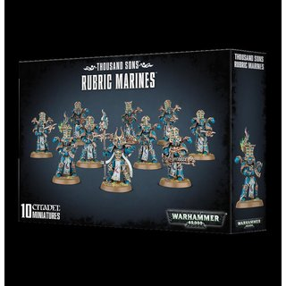 Warhammer 40000 THOUSAND SONS RUBRIC MARINES, 10 Citadel Miniaturen