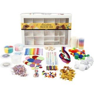 Kreativbox, Regenbogen, 1 Set, Bastel- und Modellierset
