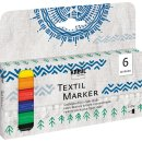 KREUL Textil Marker fine 6er Set