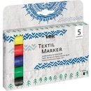KREUL Textil Marker medium 5er Set