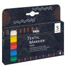 KREUL Textil Marker Opak medium 5er Set