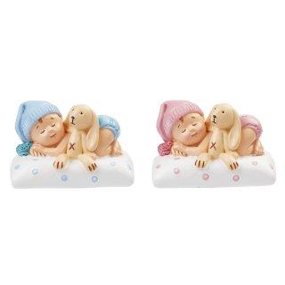 Miniatur Baby Mädchen oder Junge, ca. 6 cm, 1 Stk.
