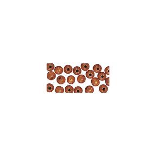 Holzperlen, poliert, 6 mm, mittelbraun
