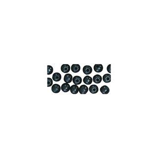 Großlochradl, poliert, 10/8 mm, schwarz, Beutel 39 Stück