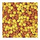 Holzperlen, matt, 4 mm, Gelb-Töne