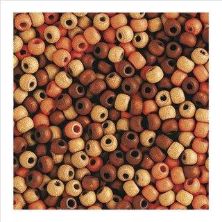 Holzperlen, matt, 8 mm, Braun-Töne, SB-Btl. 65 Stück