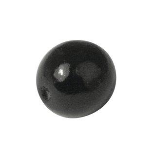 Holz-Schmuckelement,Kugel, 17mm ø, schwarz