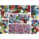 Glasperlen-Box, bunt, 115g, Farb- und Größenmix