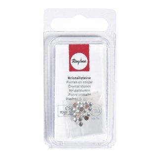 Swarovski Kristallsteine zum Aufbügeln, kristall, 3 mm, Blister 20 Stück