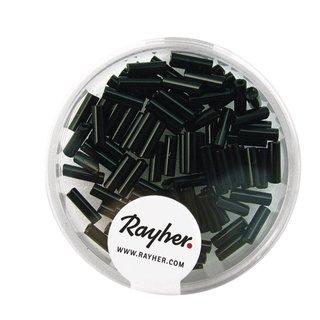 Glasstifte, 7x2 mm, opak, schwarz, Dose 15g