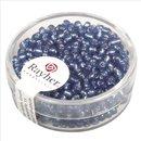 Rocailles, 2,6 mm ø, mit Silbereinzug, h.blau,...