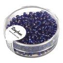 Rocailles, 2,6 mm ø, mit Silbereinzug, d.blau,...