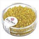 Rocailles, 2,6 mm ø, mit Silbereinzug, gelb, Dose 16g
