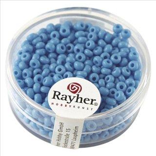 Rocailles, 2,6 mm ø, opak, h.blau, Dose 17g
