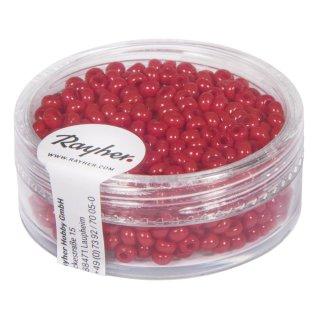 Rocailles, 2,6 mm ø, opak, rot, Dose 17g