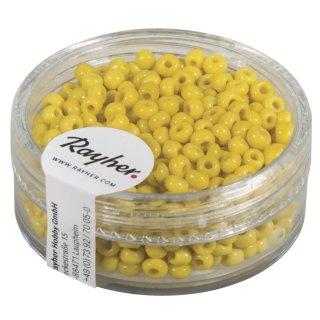 Rocailles, 2,6 mm ø, opak, gelb, Dose 17g