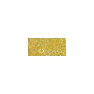 Rocailles, 2,6 mm ø, transp.gelüstert, gelb, Dose 17g
