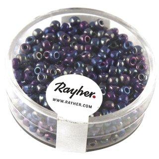 Rocailles, 2,6 mm ø, opak gelüstert, d.blau, Dose 17g