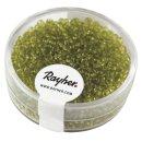 Rocailles, 2 mm ø, transparent, hellgrün, Dose 17g