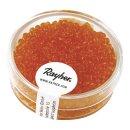 Rocailles, 2 mm ø, transparent, orange, Dose 17g