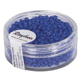 Rocailles, 2 mm ø, opak, dunkelblau, Dose 17g