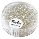 Rocailles, 2 mm ø, mit Silbereinzug, silber, Dose 17g