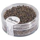 Rocailles, 2 mm ø, mit Silbereinzug, kupfer, Dose 17g