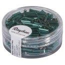 Glasstifte, 7/2 mm, mit Silbereinzug, jade, Dose 15g