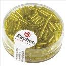 Glasstifte, 7/2 mm, mit Silbereinzug, gelb, Dose 15g